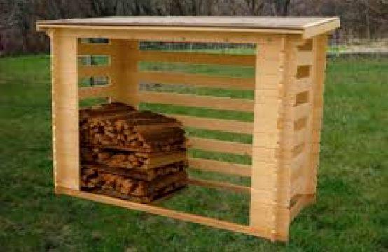 Leñero de madera