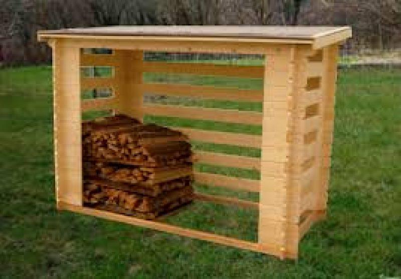 Leñero de madera - Paratucasa-casas-de-madera-