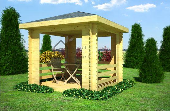 Pérgola 44mm-casetas de jardín