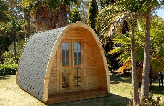 Camping Pod 2,4×4.0m. 7,4 m²
